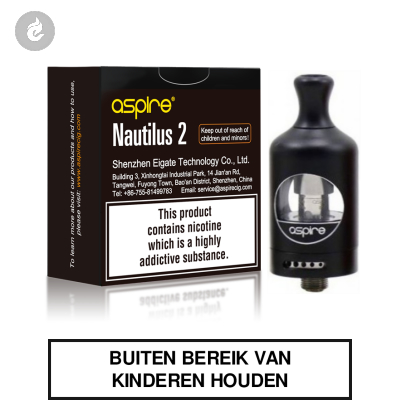 Aspire Nautilus 2 Clearomizer 2ml Zwart