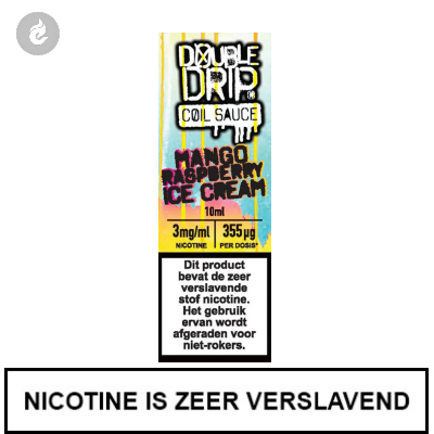 Double Drip Coil Sauce - Mango Raspberry Ice Cream 3mg nicotine