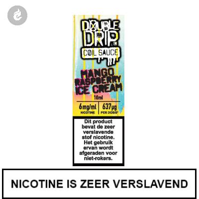 Double Drip Coil Sauce - Mango Raspberry Ice Cream 6mg nicotine