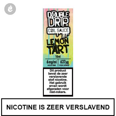 Double Drip Coil Sauce - Lemon Tart 6mg Nicotine