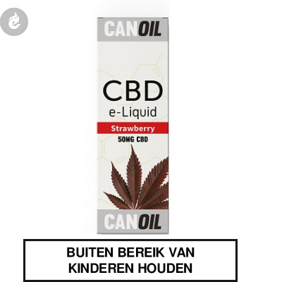 CANOIL CBD E-LIQUID STRAWBERRY 50MG CBD nicotinevrij