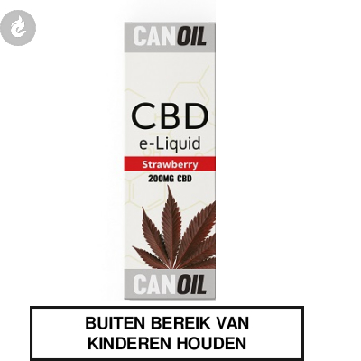 CANOIL CBD E-LIQUID STRAWBERRY 200MG CBD nicotinevrij