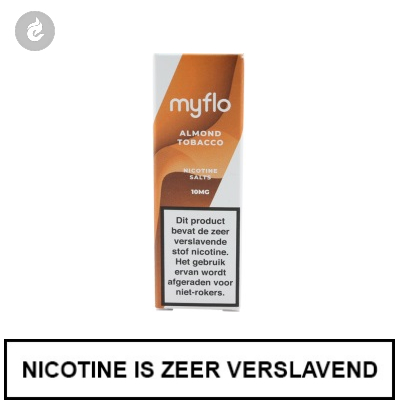 Myflo Nic Salts Almond Tobacco 10mg Nicotine 10ml