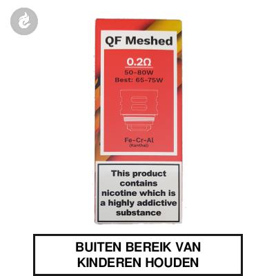 Vaporesso QF Meshed Coils 0.2ohm (3 stuks)