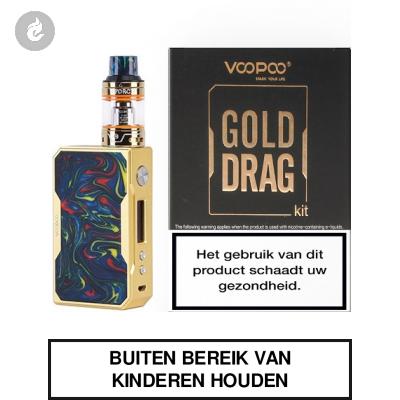 Voopoo Gold Drag Startset 157watt 2ml Rainbow