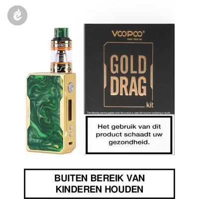 Voopoo Gold Drag Startset 157watt 2ml Jade