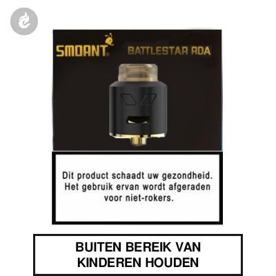 Smoant Battlestar RDA Zwart