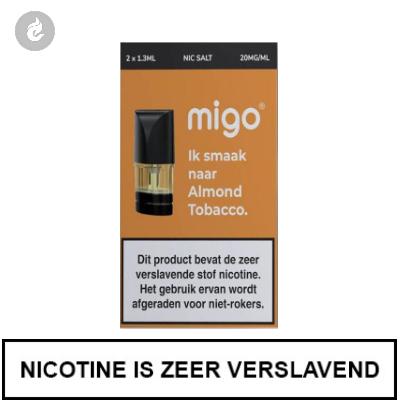MIGO PODS Almond Tobacco 20mg Nicotine 1.3ml