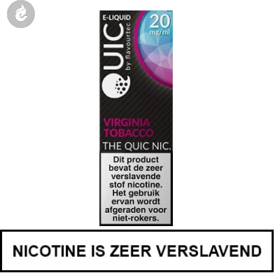 Quic Nic Nicotine Salts Virginia Tobacco 20mg Nicotine 10ml