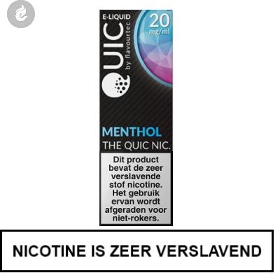 Quic Nic Nicotine Salts Menthol 20mg Nicotine 10ml