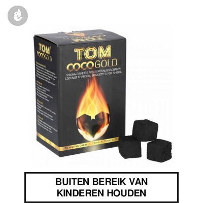 Tom Coco Waterpijp Kooltjes Gold 1kg