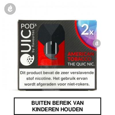 Quic PodsAmerican Tobacco 20mg (2 stuks)