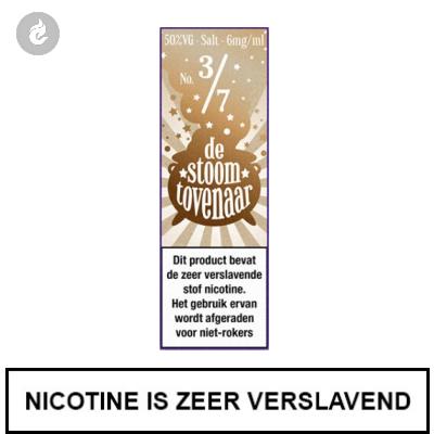 Stoomtovenaar Nic Salts Romige Cappuccino 3mg Nicotine 10ml