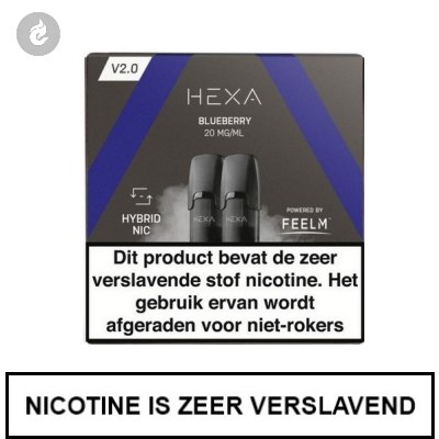 HEXA 2.0 PODS Blueberry 20mg (2 stuks)
