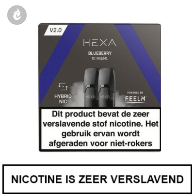 HEXA 2.0 PODS Blueberry 10mg (2 stuks)