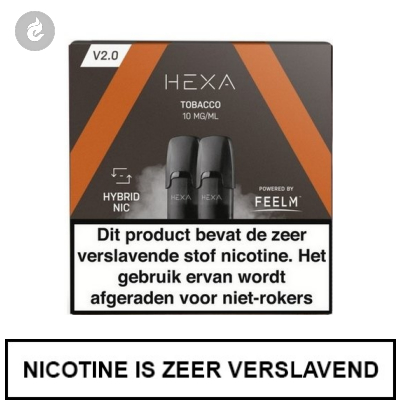 HEXA 2.0 PODS Tobacco 10mg (2 stuks)