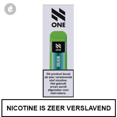 N-One Disposable Nic Salt POD e-Sigaret Menthol 20mg Nicotine