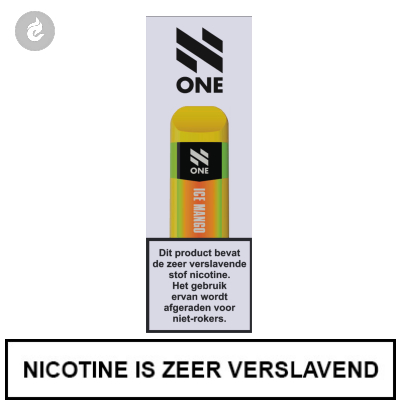 N-One Disposable Nic Salt POD e-Sigaret Ice Mango 20mg Nicotine