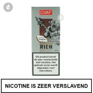 civap e-liquid rich tobacco 12mg nicotine