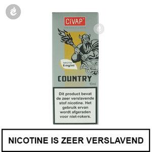 civap e-liquid country dominion tabak 12mg nicotine