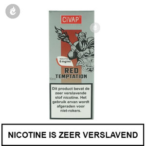 civap e-liquid red temptation mix rode appel met kaneel 6mg nicotine