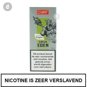 civap e-liquid green eden groene appel 6mg nicotine