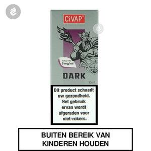 civap e-liquid dark tobacco nicotinevrij
