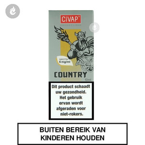 civap e-liquid country dominion tabak nicotinevrij