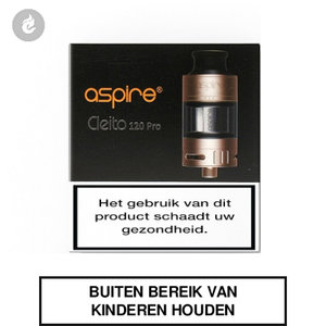 aspire cleito 120 pro clearomizer tank 2ml goud