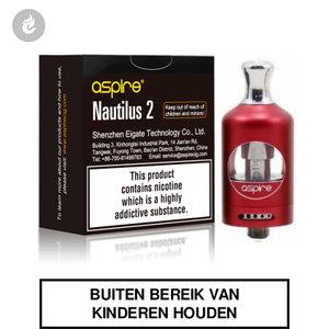 aspire nautilus 2 clearomizer tank 2ml rood