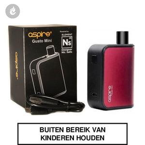 aspire gusto mini e-sigaret e-smoker pod starterskit rood