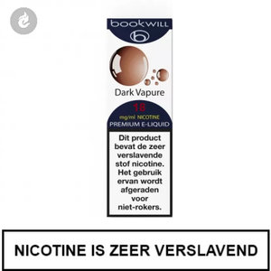 bookwill e-sigaret e-liquid 70pg 30vg dark vapure 18mg nicotine