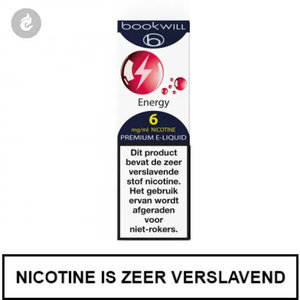 bookwill e-sigaret e-liquid 70pg 30vg energy 6mg nicotine