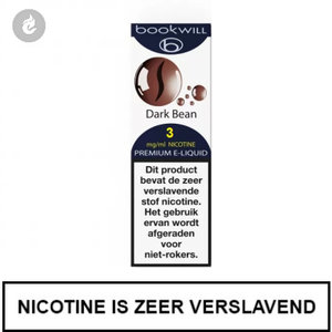 bookwill e-sigaret e-liquid 70pg 30vg dark bean 3mg nicotine