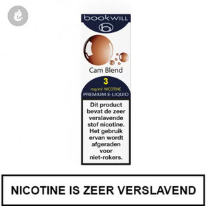 bookwill e-sigaret e-liquid 70pg 30vg cam blend 3mg nicotine