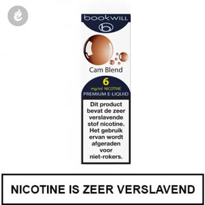 bookwill e-sigaret e-liquid 70pg 30vg cam blend 6mg nicotine