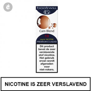 bookwill e-sigaret e-liquid 70pg 30vg cam blend 18mg nicotine