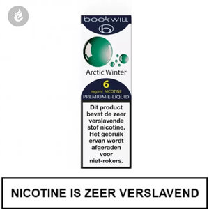 bookwill e-sigaret e-liquid 70pg 30vg arctic winter 6mg nicotine