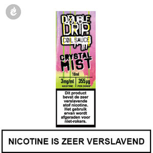 double drip coil sauce e-liquids 10ml crystal mist 3mg nicotine