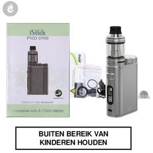 eleaf istick pico 21700 e-sigaret kit 100watt gunmetal brushed zilver