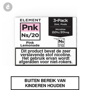 element nic salts pods ns 20mg 3x2ml pink lemonade