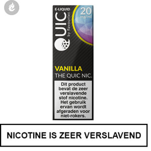 quic nic salts e-liquid 50pg 50vg ry4 vanille vanilla 20mg