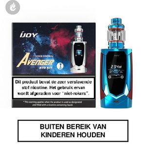 ijoy avenger 270 e-sigaret kit voice control 234watt 2ml mirror blue blauw