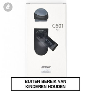 justfog c601 e-sigaret e-smoker pods starterskit 650mah 1.7ml zwart