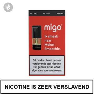 migo pods 1.3ml 2 stuks nic salt nicotinezout e-liquid 20mg nicotine melon smoothie