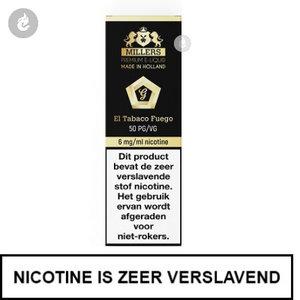 millers juice goldline el tabaco fuego 18mg nicotine