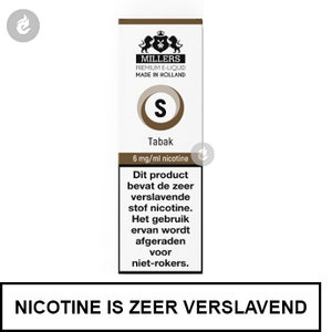 millers e-liquid silverline tabak 6mg nicotine