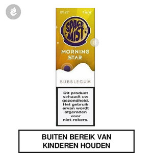 space mist morning star e-liquid 50pg 50vg 10ml bubblegum 0mg nicotinevrij.jpg