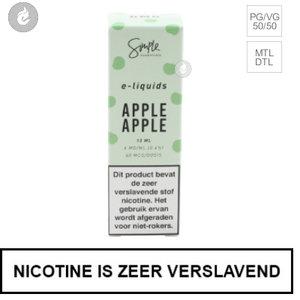 simple essentials e-liquid apple 6mg nicotine