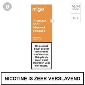 migo e-liquid nic salt nicotinezout 10mg almond tobacco 10ml.jpg